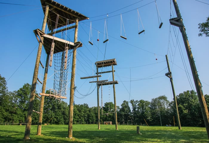 High ropes course facility